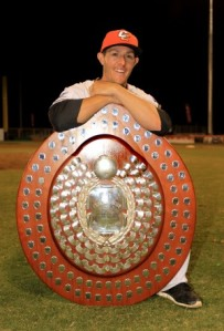 Michael Collins with the Claxton Shield